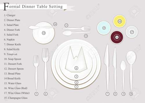 small resolution of formal dinner business dinner or formal dinner table setting preparing for special occasions stock