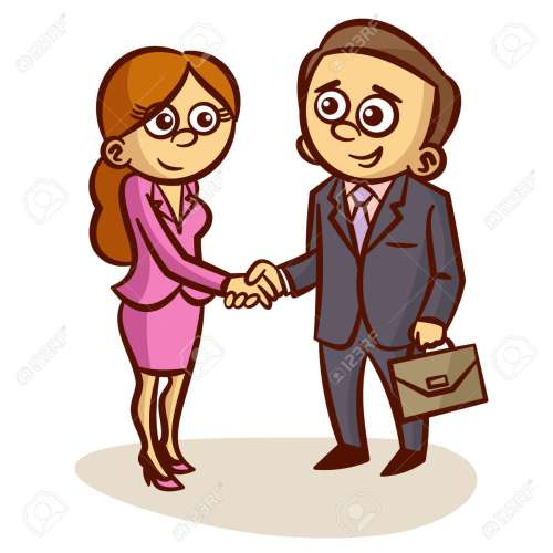 small resolution of business partners shaking hands partnership clipart stock vector 61250322