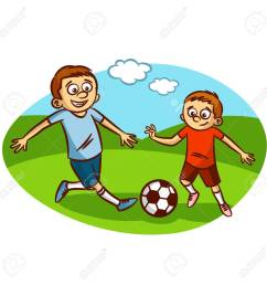 dad and son playing football clipart stock vector 61633148 [ 1300 x 1300 Pixel ]