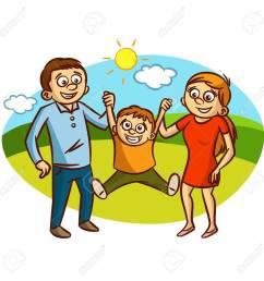 happy family walking outdoors clipart stock vector 61633187 [ 1300 x 1300 Pixel ]