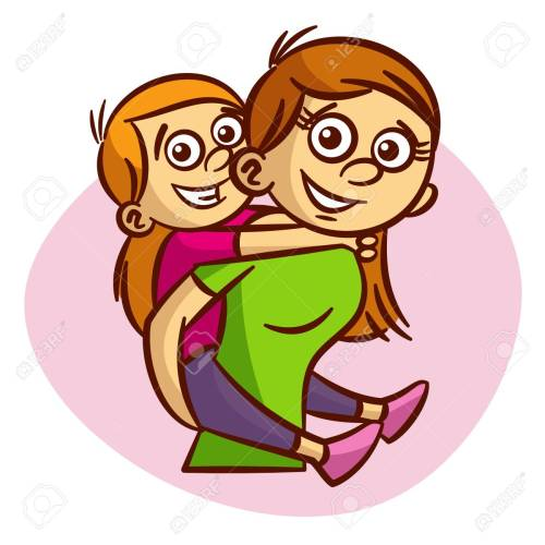 small resolution of mother and child having fun clipart stock vector 61633188