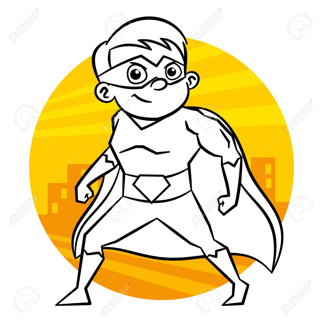 Superhero Coloring Page Stock Photo Picture And Royalty Free Image Image 90302060