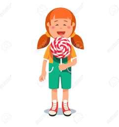 cute little girl standing with big swirly lollipop stock vector 83809444 [ 1300 x 1300 Pixel ]