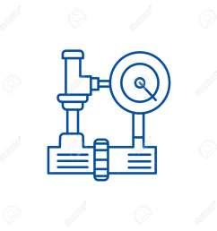 120277599 water pressure system hvac industry line concept icon water pressure system hvac industry flat vecto jpg [ 1300 x 1300 Pixel ]