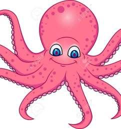 funny octopus cartoon stock vector 13394715 [ 1300 x 991 Pixel ]