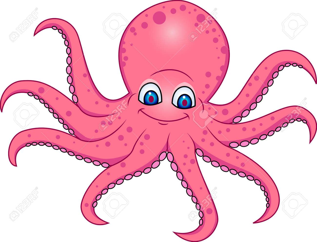 hight resolution of funny octopus cartoon stock vector 13394715