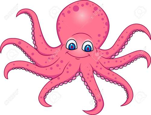 small resolution of funny octopus cartoon stock vector 13394715