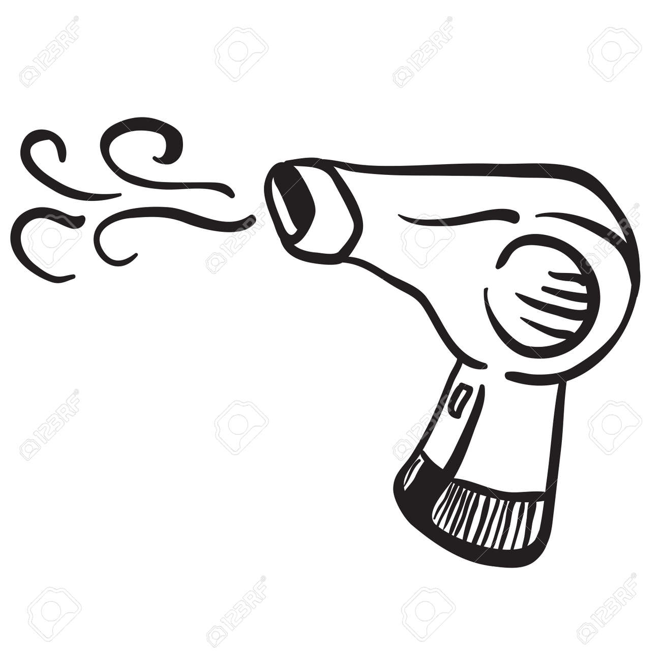 hight resolution of simple black and white hair dryer stock vector 55349685