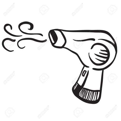 small resolution of simple black and white hair dryer stock vector 55349685