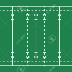 Football Pitch Diagram To Print The Crucible Plot Flat Green Rugby Field Top View Of American With Line Template Vector