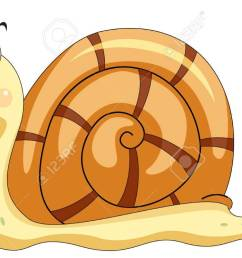 illustration of a smiling snail stock vector 13583940 [ 1300 x 747 Pixel ]