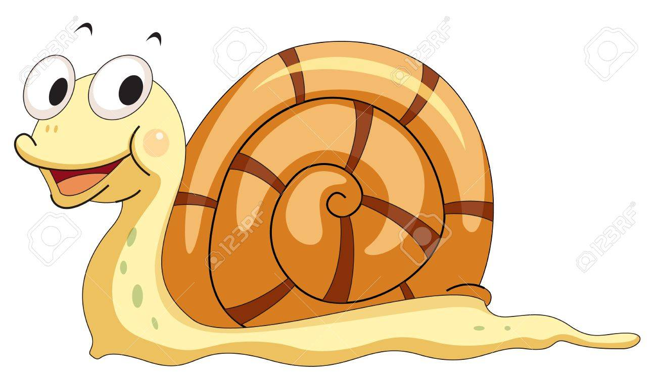 hight resolution of illustration of a smiling snail stock vector 13583940