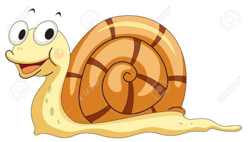 small resolution of illustration of a smiling snail stock vector 13583940