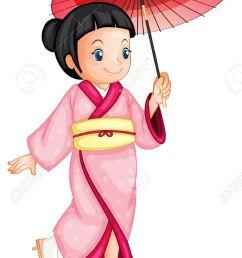 illustration of a japanese geisha stock vector 13700108 [ 849 x 1300 Pixel ]