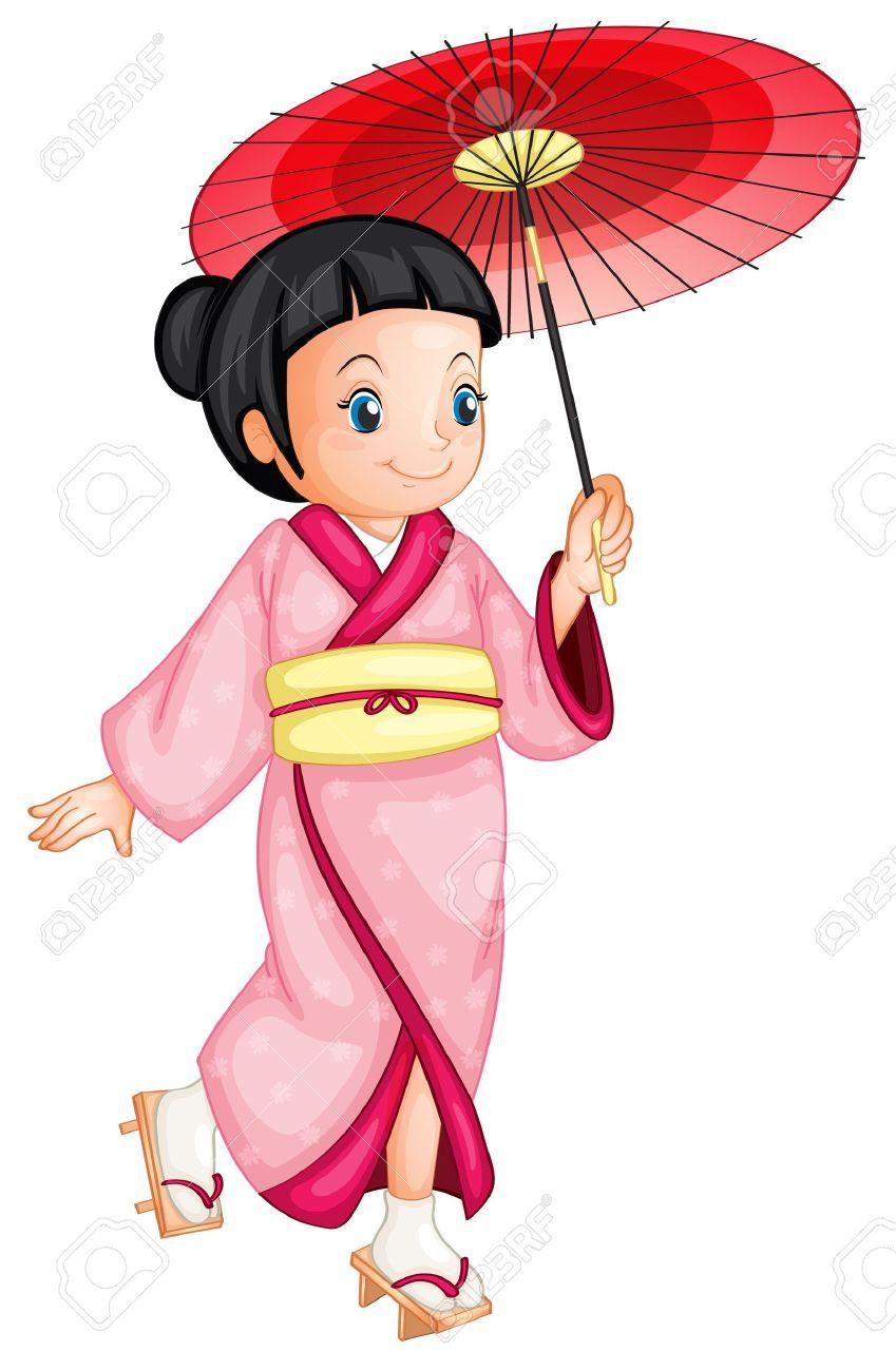 hight resolution of illustration of a japanese geisha stock vector 13700108