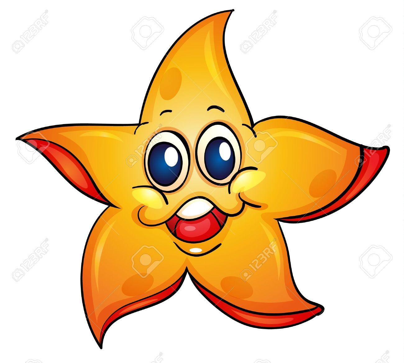 hight resolution of illustration of a sea star illustration