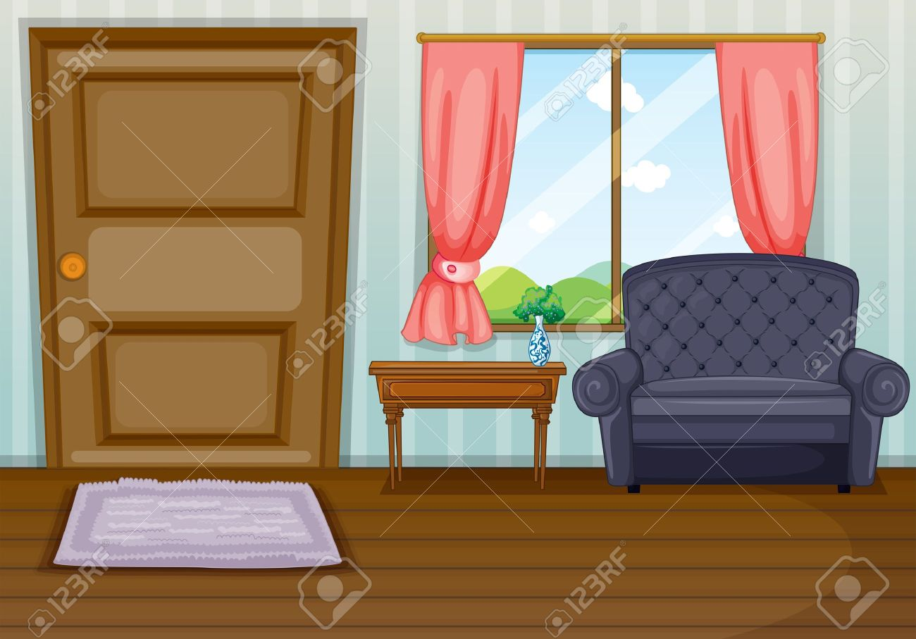 clean living room glass tables for illustration of a royalty free cliparts vectors stock vector 17821543