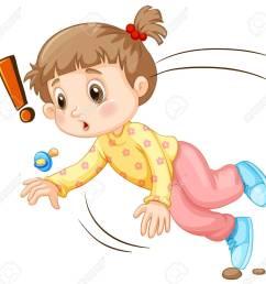 little girl falling down illustration stock vector 53963340 [ 1300 x 1252 Pixel ]