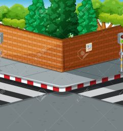 street corner with two zebra crossings illustration stock vector 53963601 [ 1300 x 1155 Pixel ]
