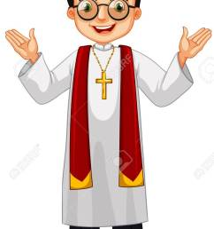 priest wearing glasses and cross illustration stock vector 56549152 [ 851 x 1300 Pixel ]