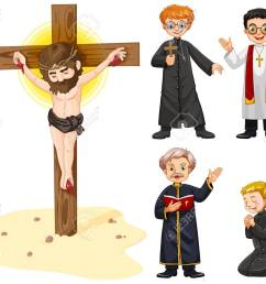 priests and jesus figure illustration stock vector 56549382 [ 1300 x 1064 Pixel ]