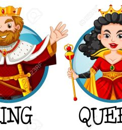 king and queen on round badges illustration stock vector 63871631 [ 1300 x 861 Pixel ]