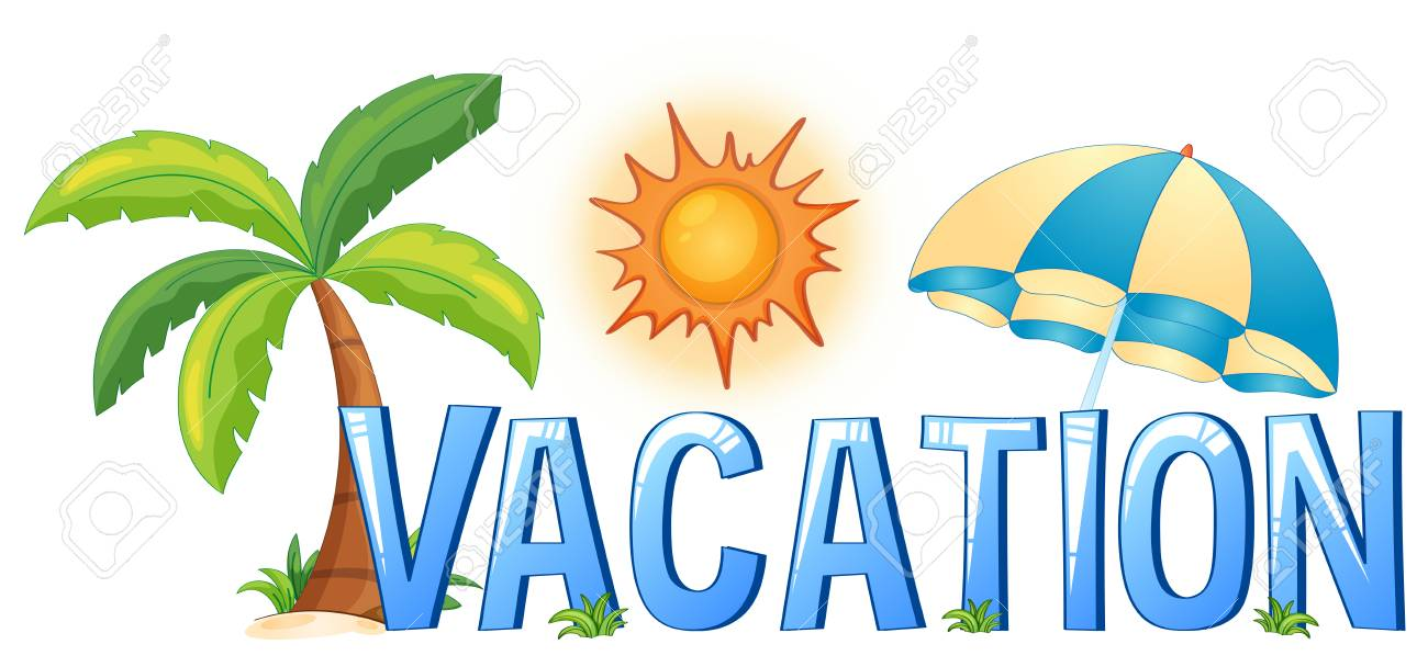 Font Design With Word Vacation Illustration Royalty Free Cliparts Vectors And Stock Illustration Image 67369970