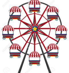 ferris wheel on white background illustration stock vector 74553145 [ 1126 x 1300 Pixel ]