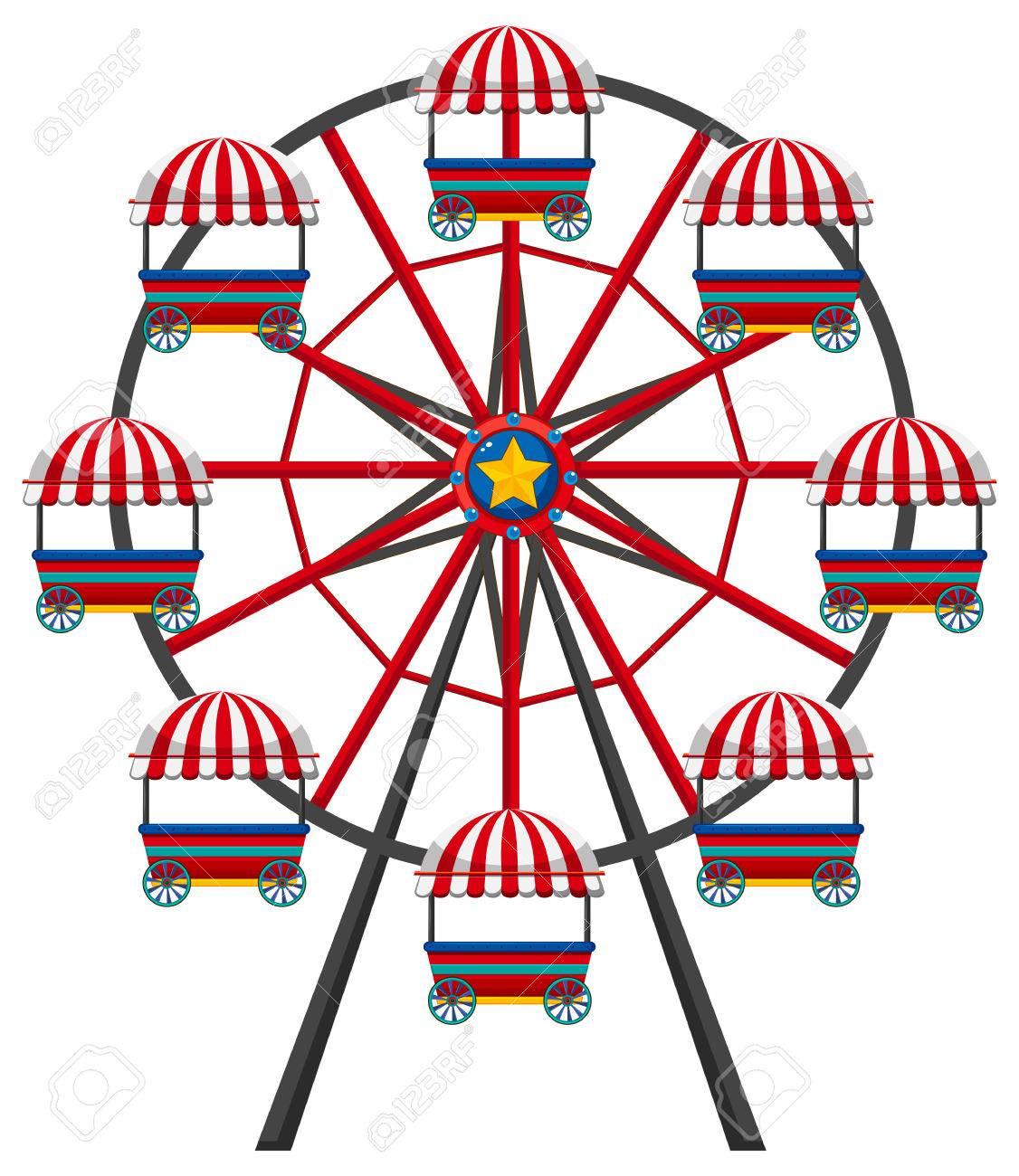 hight resolution of ferris wheel on white background illustration stock vector 74553145