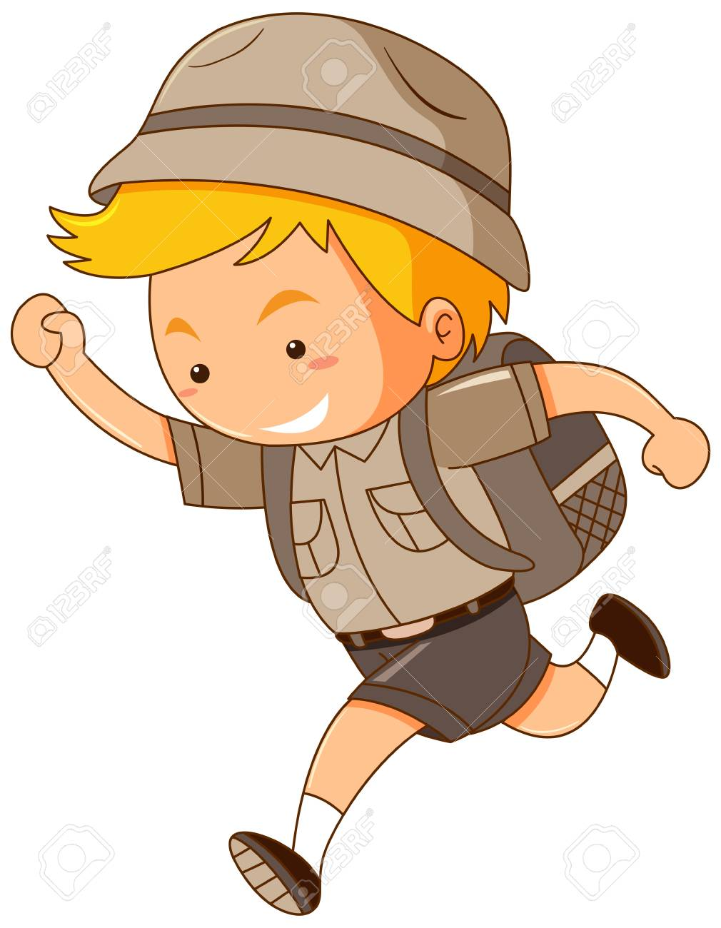 hight resolution of running person with backpack clipart