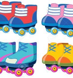 set of roller skate shoes illustration stock vector 121751864 [ 1300 x 975 Pixel ]