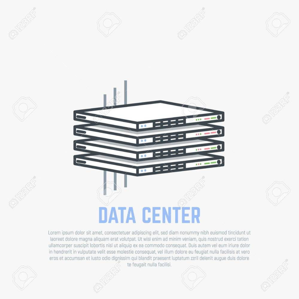 medium resolution of server room rack thin server hardware with internet cables in isometric perspective cloud storage
