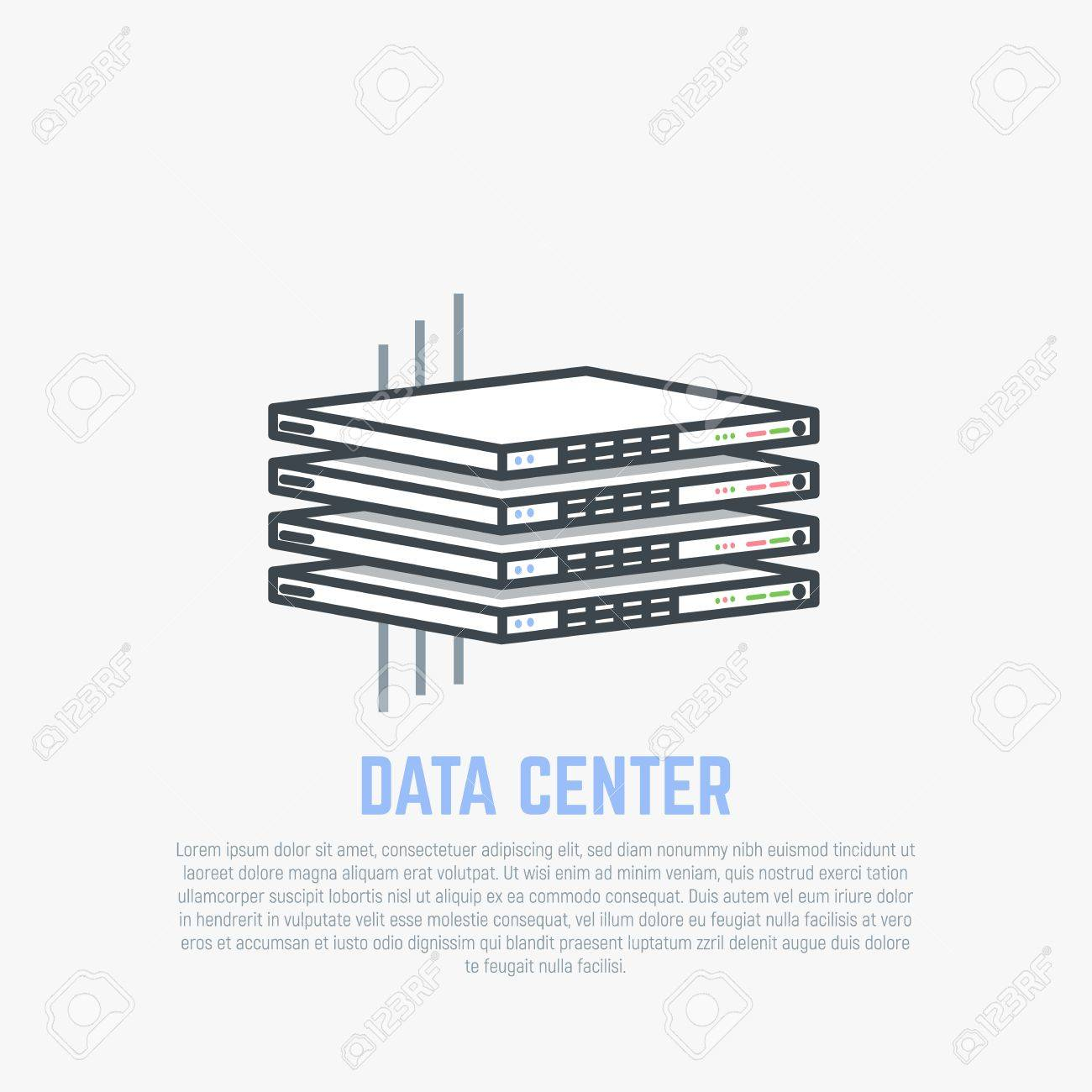 hight resolution of server room rack thin server hardware with internet cables in isometric perspective cloud storage