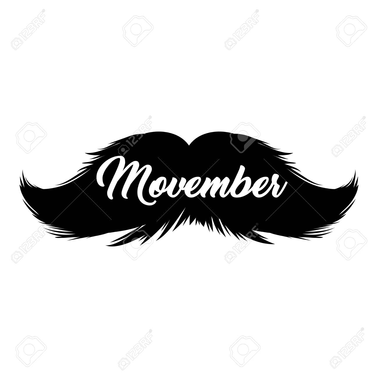 hight resolution of moustaches clipart black isolated silhouette and hand drawn lettering with word movember cinco de