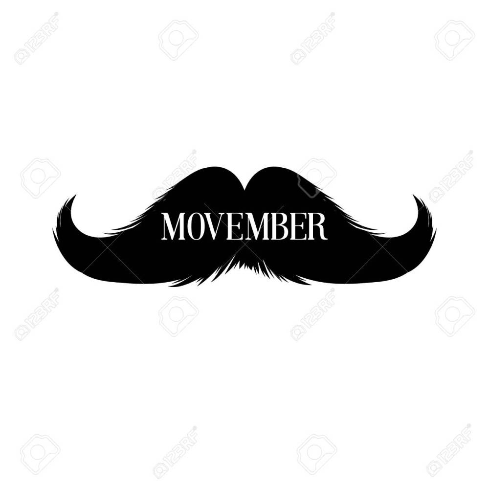 medium resolution of moustaches clipart black isolated silhouette and hand drawn lettering with word movember cinco de