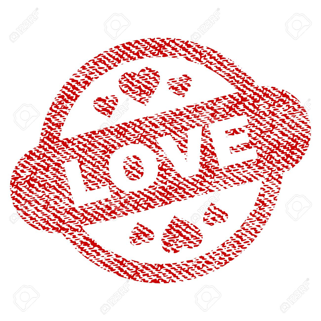 love stamp seal vector