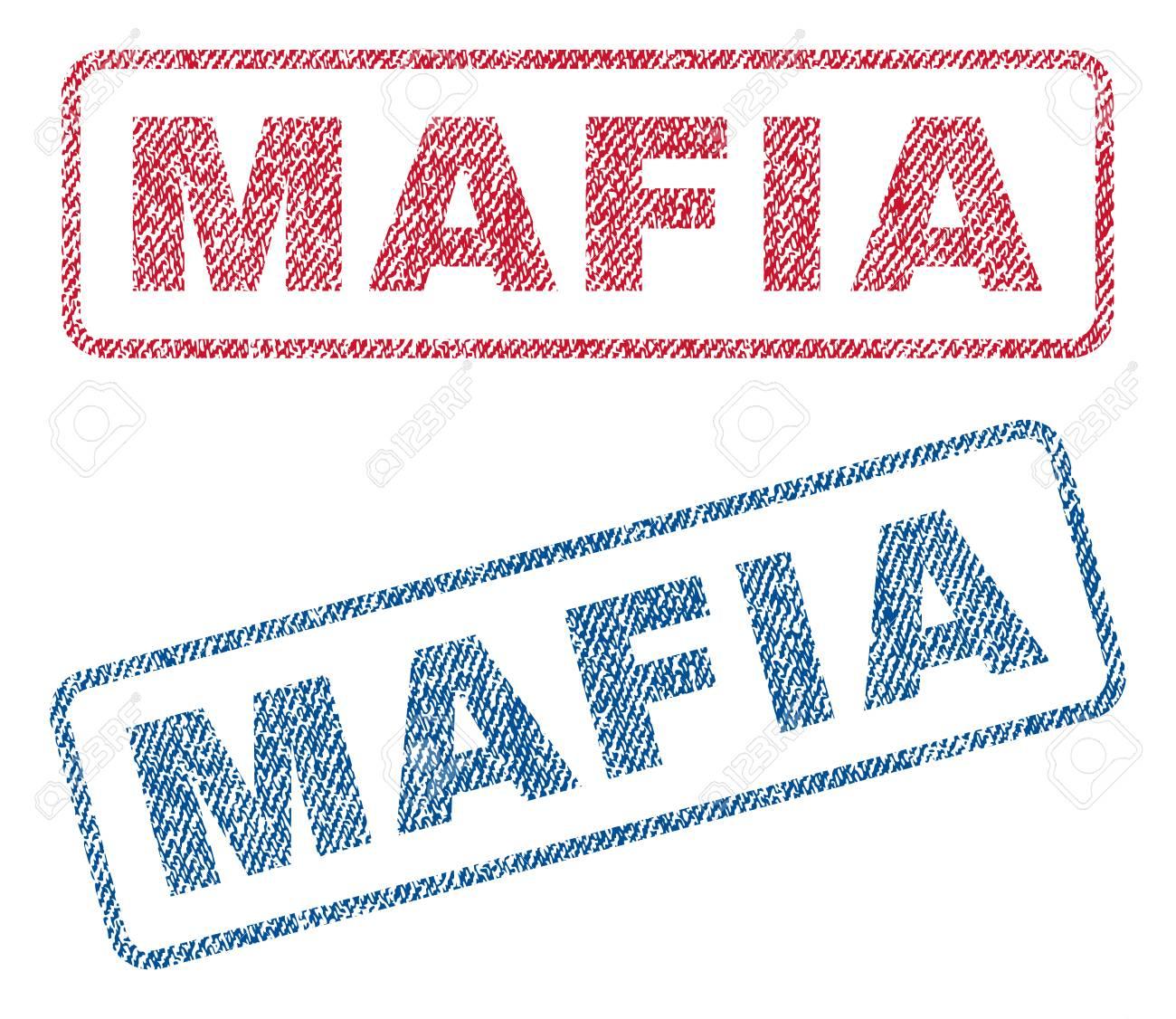 mafia text textile seal