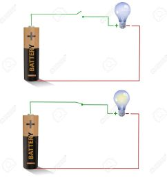 electric circuit showing open and closed switches using a light figure shows a simple circuit diagram with a battery an open switch [ 1300 x 1300 Pixel ]
