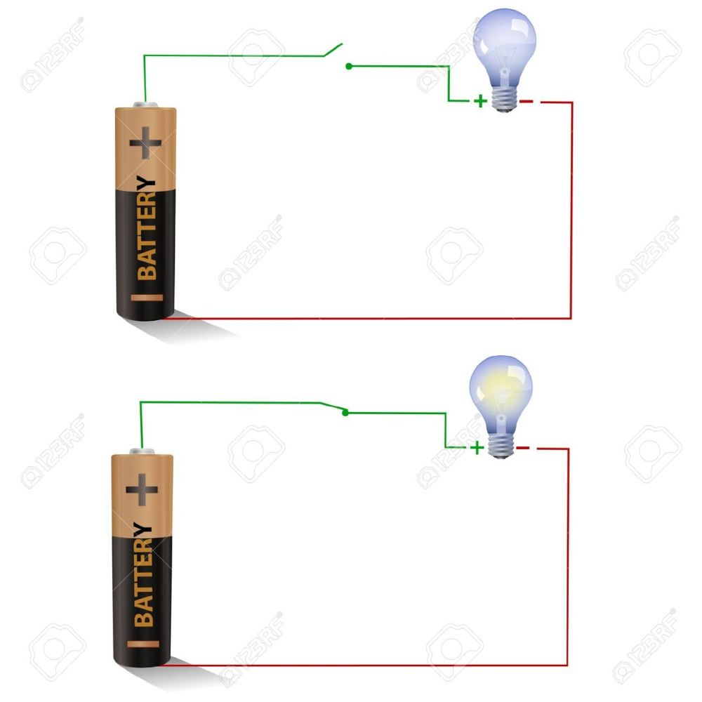 medium resolution of electric circuit showing open and closed switches using a light figure shows a simple circuit diagram with a battery an open switch