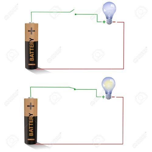 small resolution of electric circuit showing open and closed switches using a light figure shows a simple circuit diagram with a battery an open switch