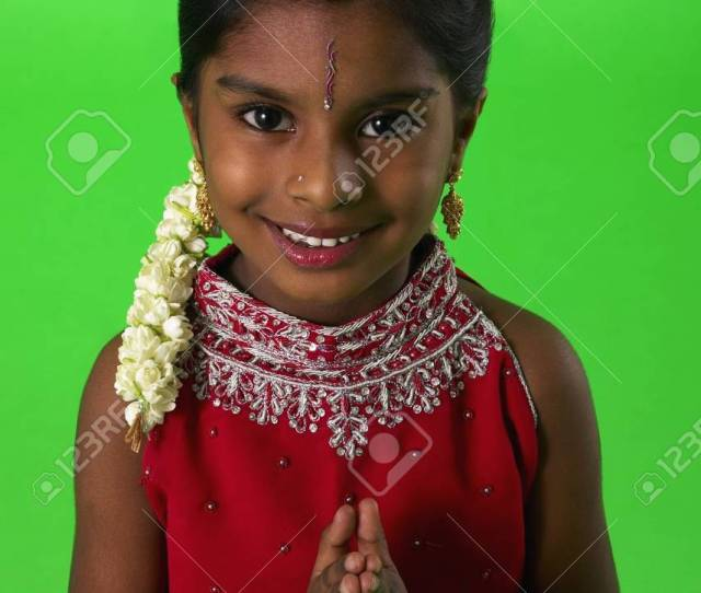 Stock Photo Young Indian Girl In Traditional Indian Dress