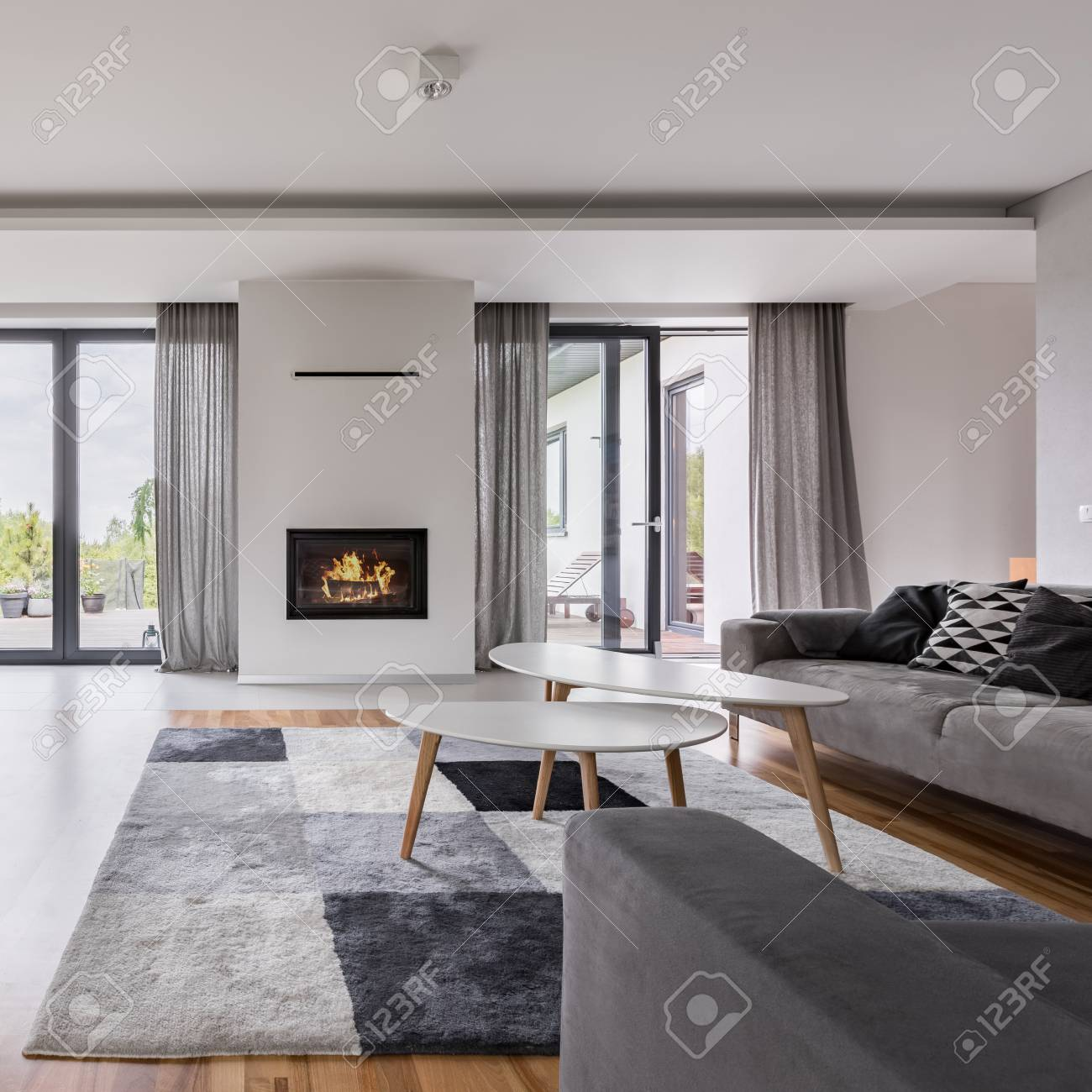 elegant living rooms with fireplaces room ideas cream sofa white fireplace tv coffee table and stock photo two couches