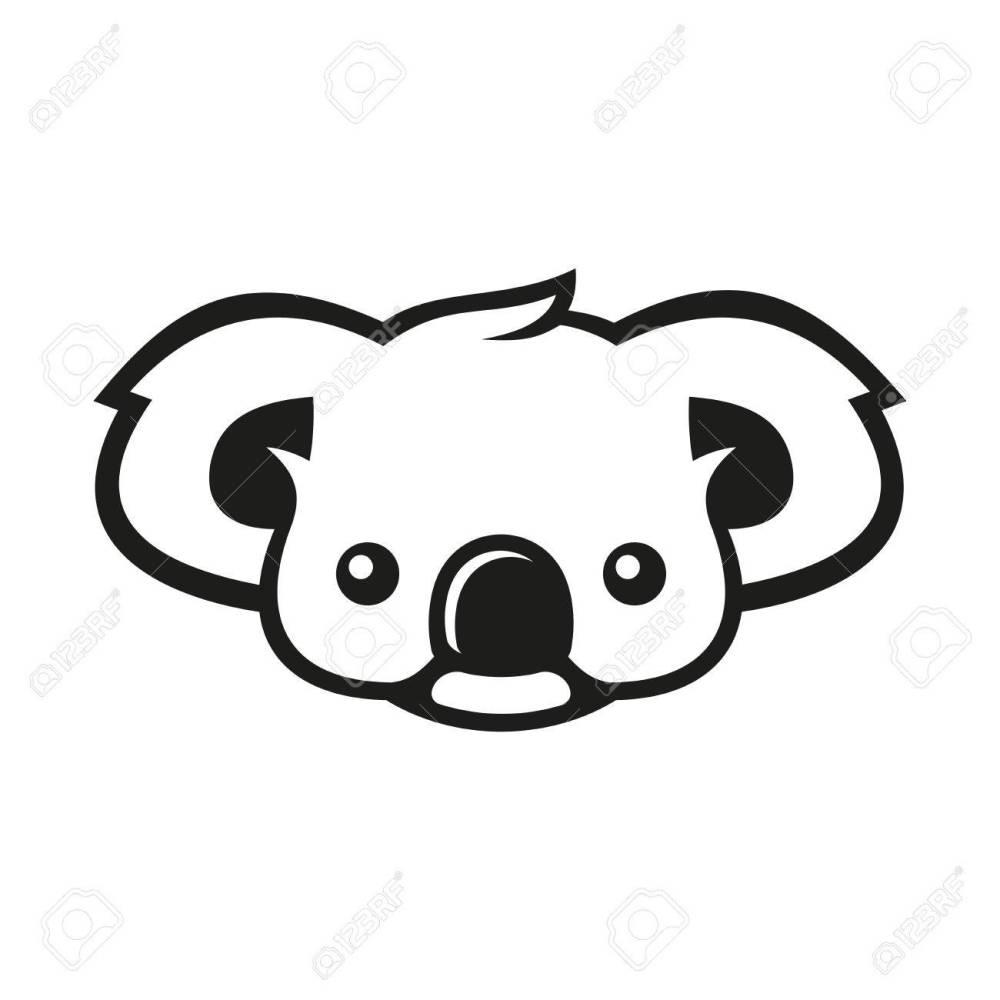 medium resolution of koala bear sign coala vector illustration stock vector 67162729