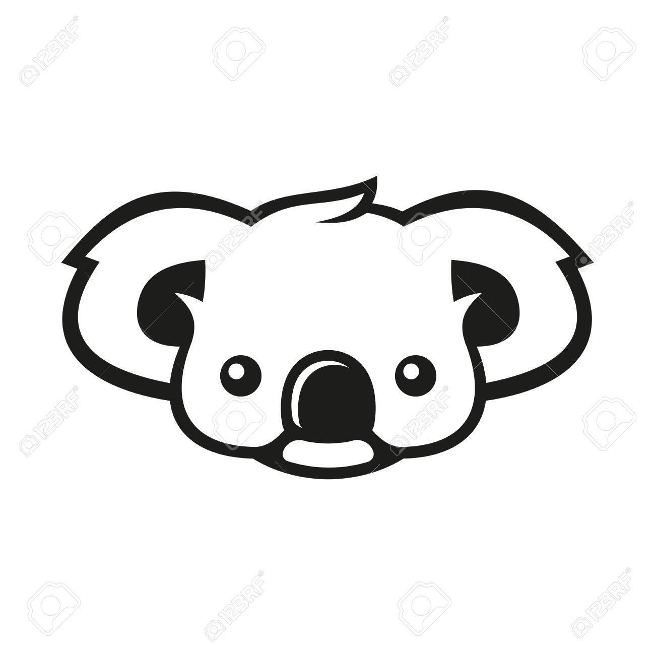 hight resolution of koala bear sign coala vector illustration stock vector 67162729