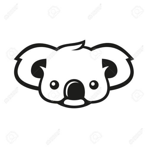small resolution of koala bear sign coala vector illustration stock vector 67162729