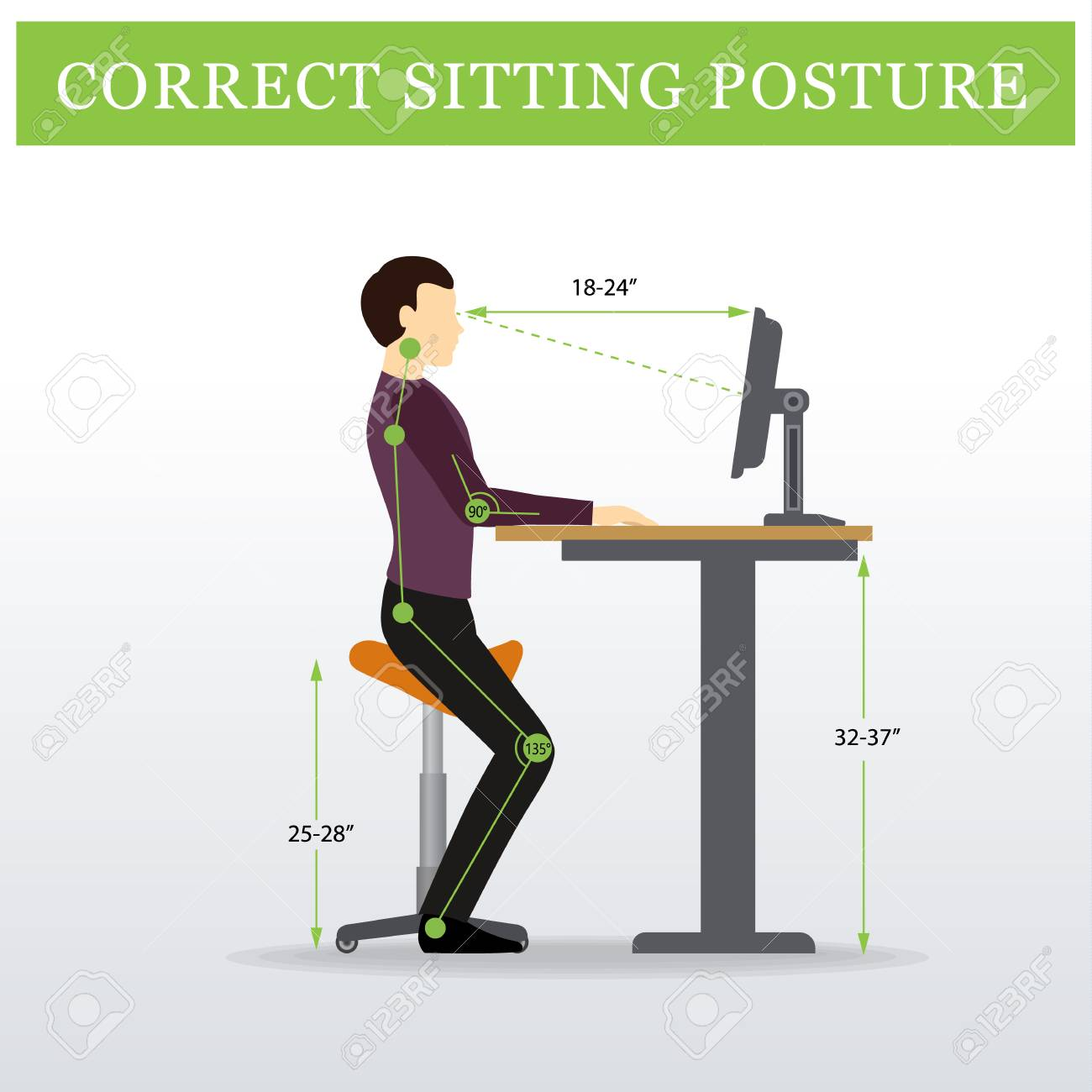 banque d images ergonomique selle assis chaise et bureau reglable en hauteur ou une table assis et debout pose d un homme pose de seance en bonne sante
