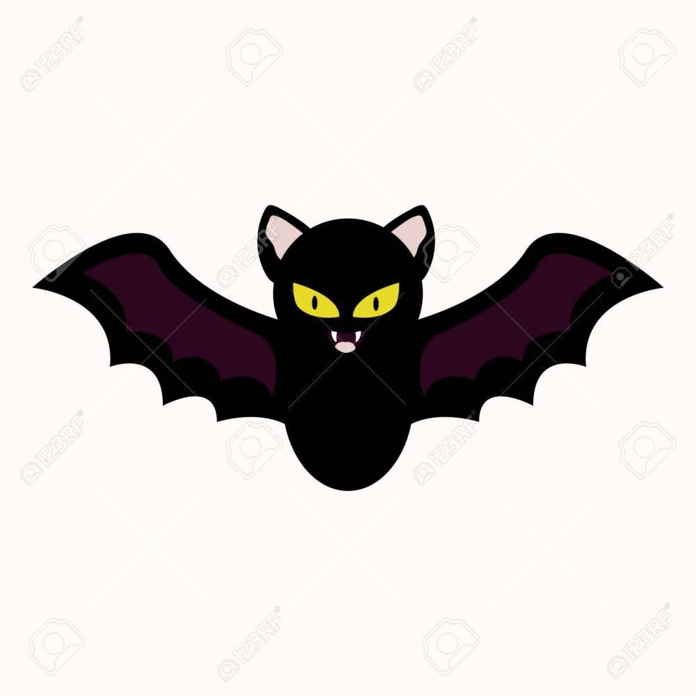 medium resolution of cartoon bat vector illustration halloween spooky character clipart icon stock vector 109853025