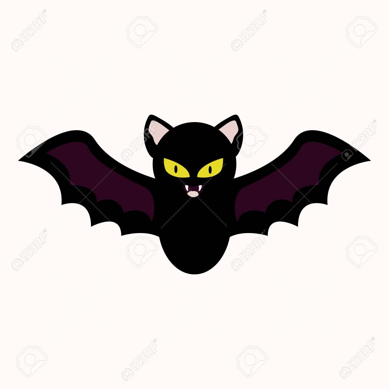 hight resolution of cartoon bat vector illustration halloween spooky character clipart icon stock vector 109853025
