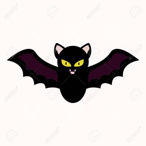 small resolution of cartoon bat vector illustration halloween spooky character clipart icon stock vector 109853025