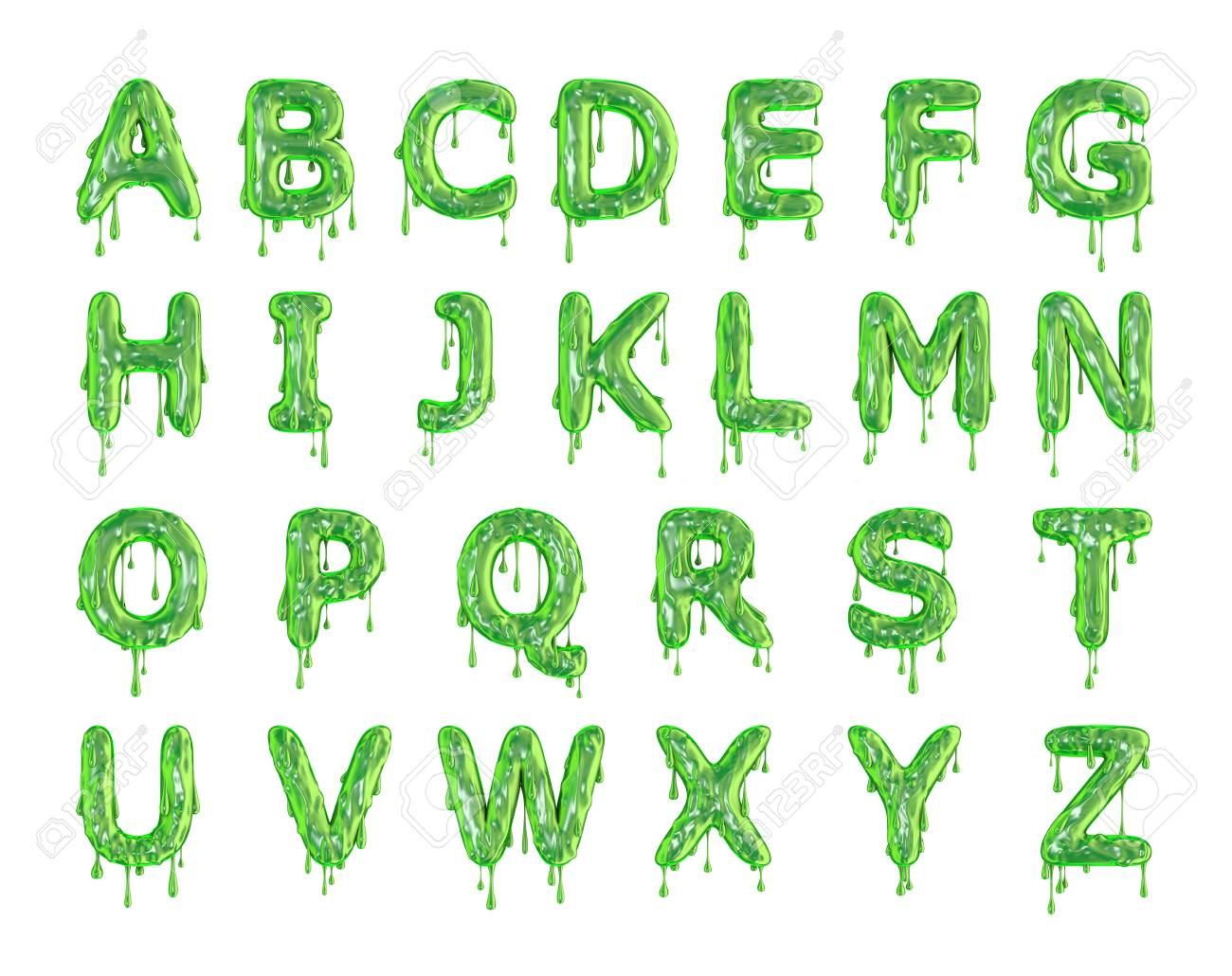green dripping slime halloween